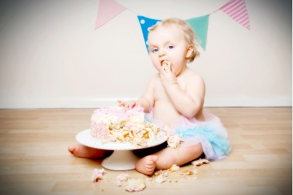 Cake Smash Photography Staffordshire